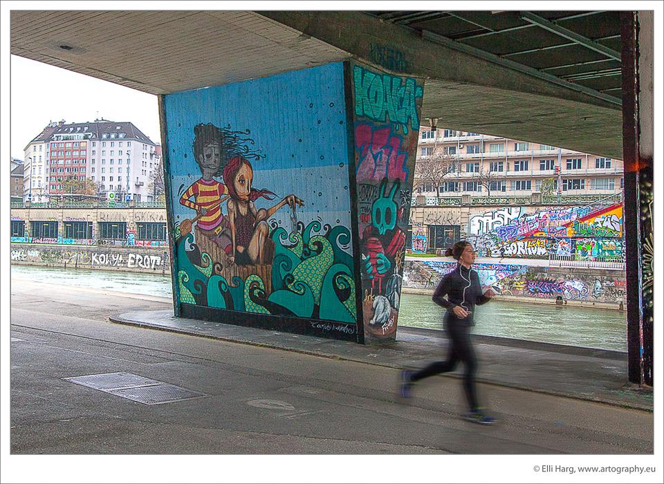Urbane Kunst beim Vorbeilaufen