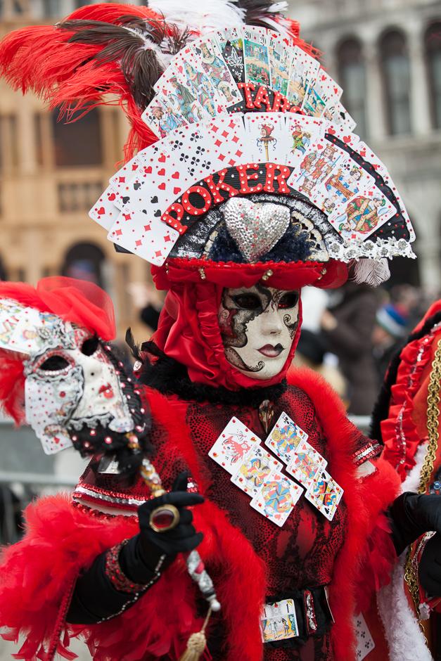Carnevale, Poker, Spiel, Kostüm