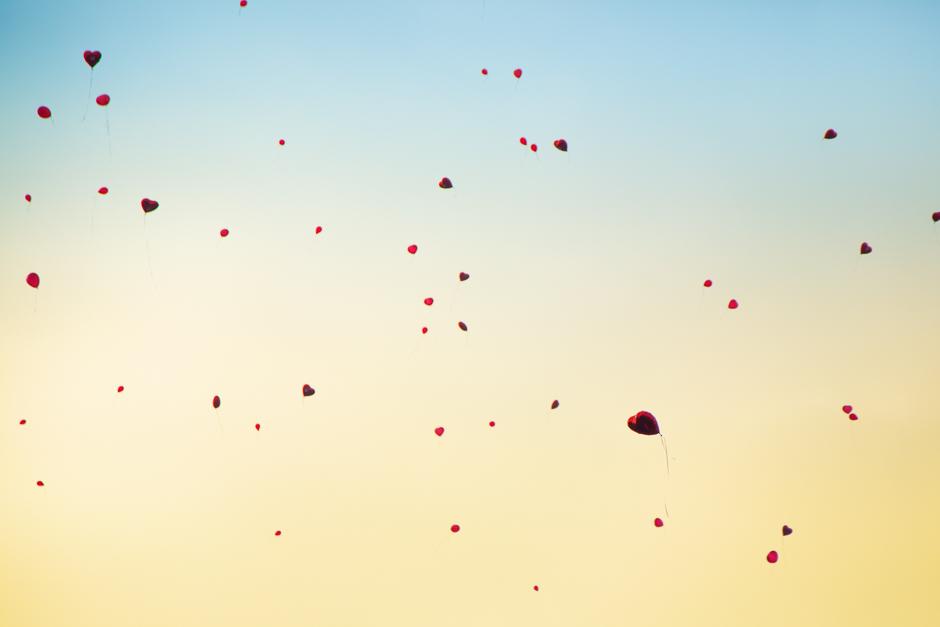 Luftballone, Herzen, Liebe