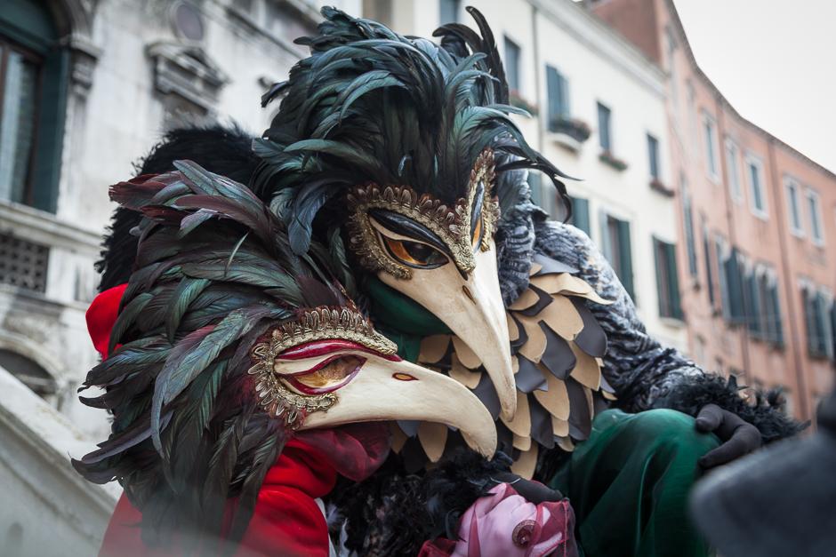 TIerkostüm, Schnabelmaske, Venedig