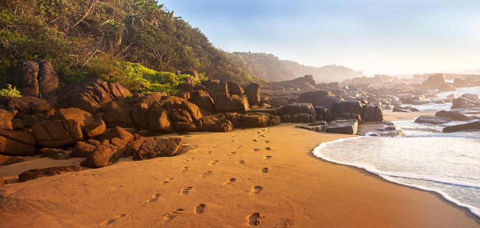 Sunrise at Port Edward Coast
