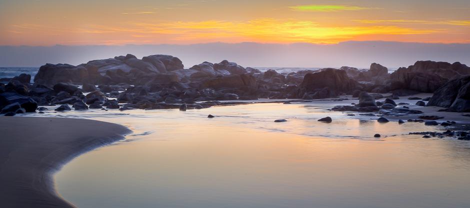 Sunset at Port Edward Coast