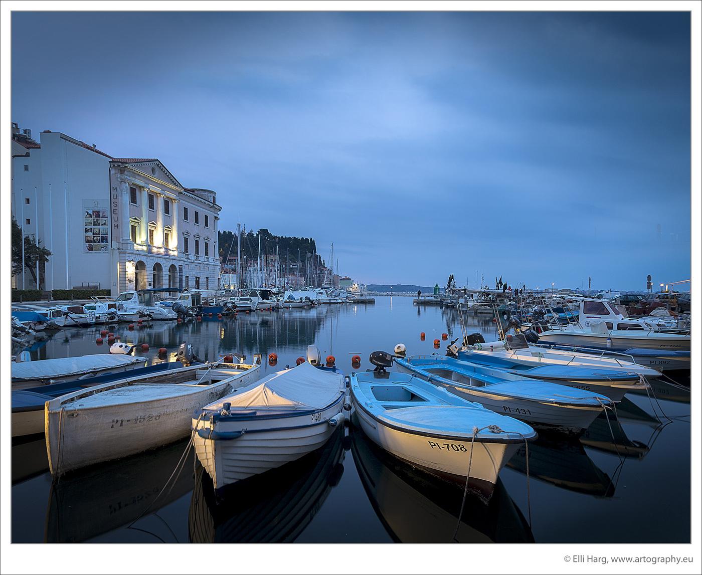 Sogar viele Boote machen ihren Winterschlaf in Piran...